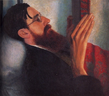 Dora Carrington, portrait of Lytton Strachey, 1916