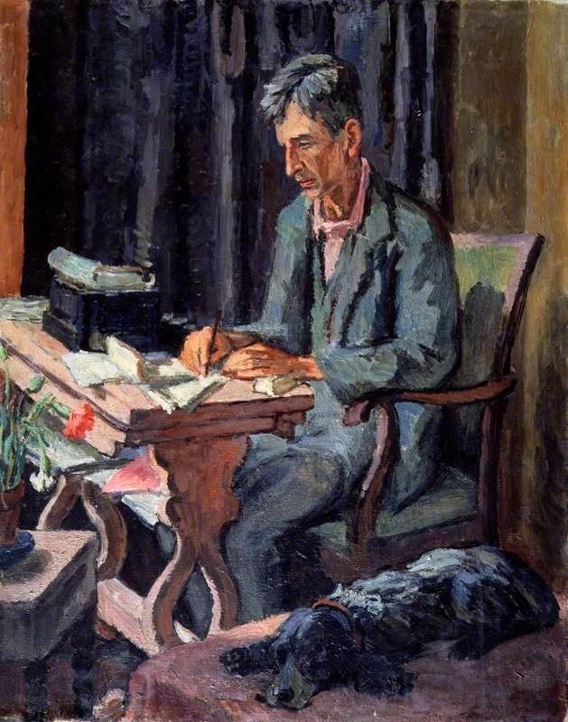 Vanessa Bell portrait of Leonard Woolf, 1940