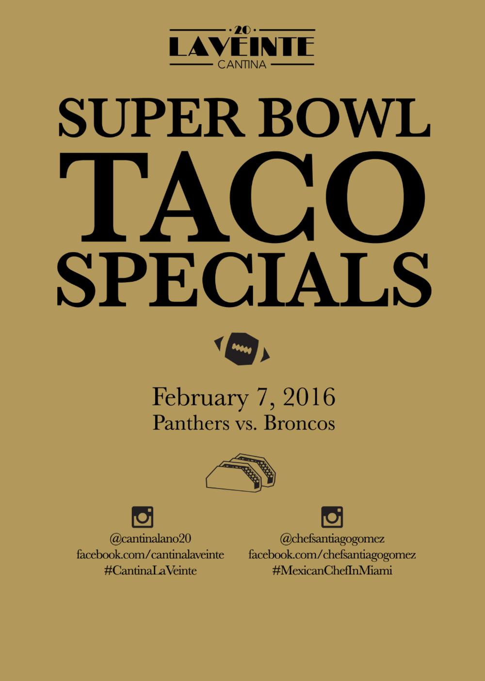 Super Bowl Taco Specials