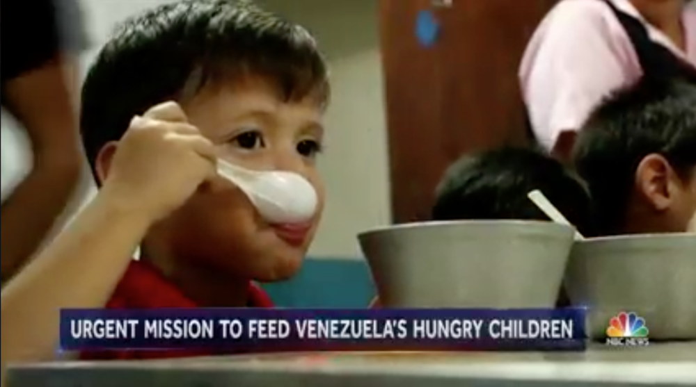 Venezuelans are dying because of severe shortages of food and medicines. Crime and corruption are rampant.   Click the image above to see the story of a woman who is helping bring relief to the hungry children, innocent victims of this disaster.  CLICK HERE TO DONATE TO COMPARTE POR UNA VIDA