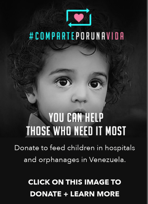 I'm grateful for this initiative to help Venezuelan children - please click the image to donate and find out more.