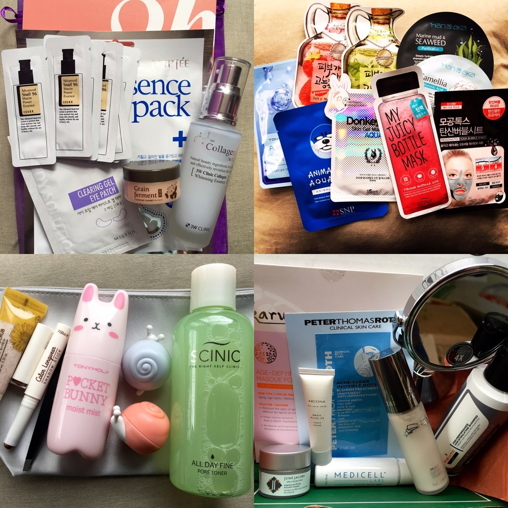 Pictured top left: The 3B Box, top right:  Beauteque Mask Maven, bottom left:  Beauteque BB Bag, bottom right: DermStore BeautyFix