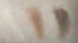 Smashbox Photo Op Eyeshadow Trio Palette in Filter.  Colors left to right:  Vanilla, Sable, Sumatra.