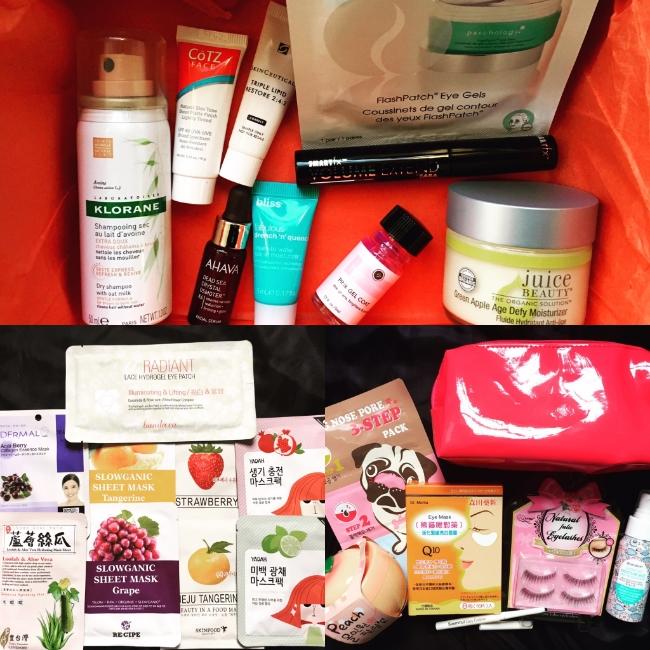 Top row: DermStore BeautyFix. Bottom row, left to right: Beauteque Mask Maven, Beauteque BB Bag.