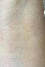 bareMinerals BARESKIN Sheer Sun Serum Bronzer applied to skin and blended
