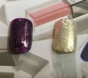 Swatches of Julep Nail Color in Kristjana (left) and Bree (right)