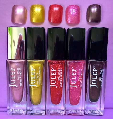 Julep Nail Color, left to right: Cancer, Dahlia, Stephanie, Sylvie, Virginia