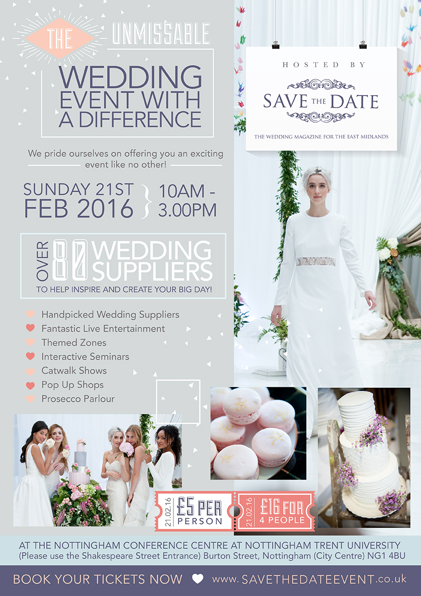 save the date wedding event  - nottingham