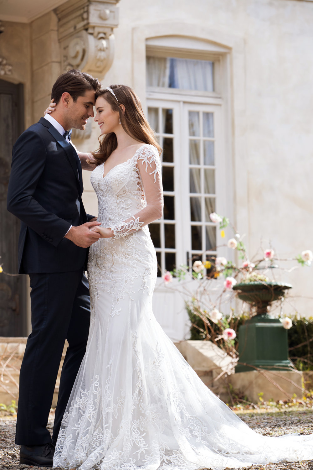 Sophia Tolli  - Iona. With or without sleeves this impressive bridal gown is sure to have the wow factor at your wedding.