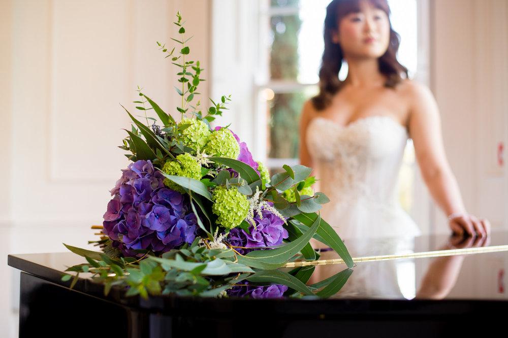Floral arrangement by Sassie Bee's florist.