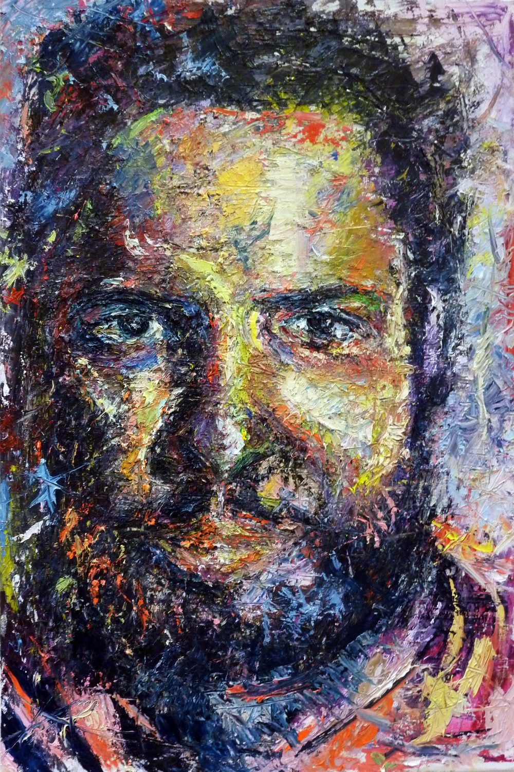 Soujourner,  oil on canvas, 150 x 100 cm, 2015.