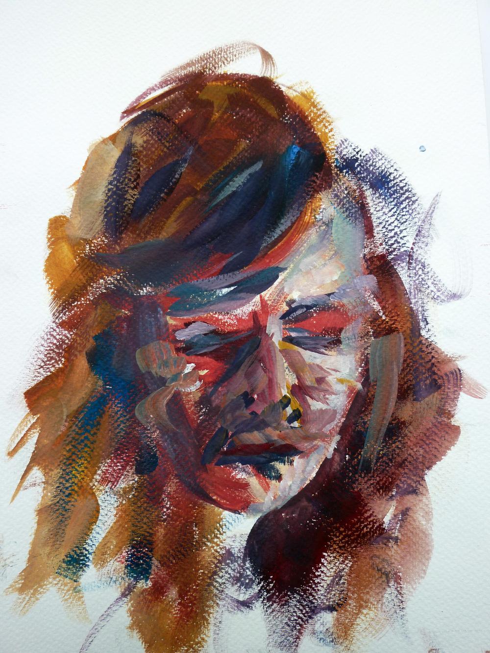 Kelsey , gouache on paper, 28 x 21 cm, 2014.