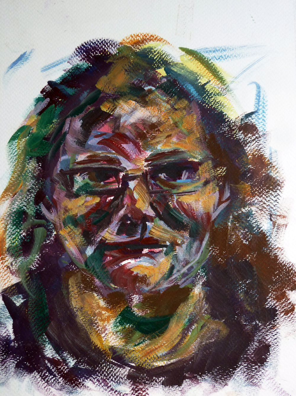 Becky , gouache on paper, 28 x 21 cm, 2015.