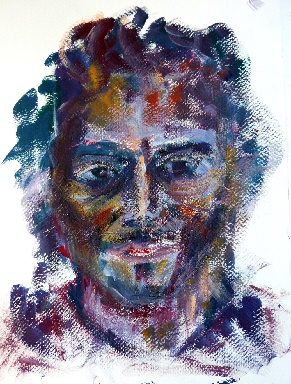 Luca , gouache on paper, 28 x 21 cm, 2015.