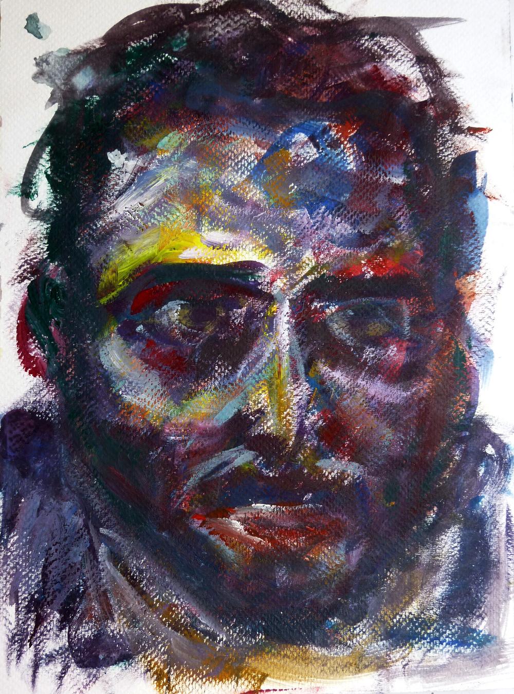 Samer , gouache on paper, 28 x 21 cm, 2015.