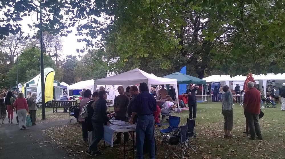 HACAN East stall at the Wanstead Festival in September