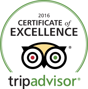 Certificate of Excellence (2015, 2016, 2017) - Trip Advisor