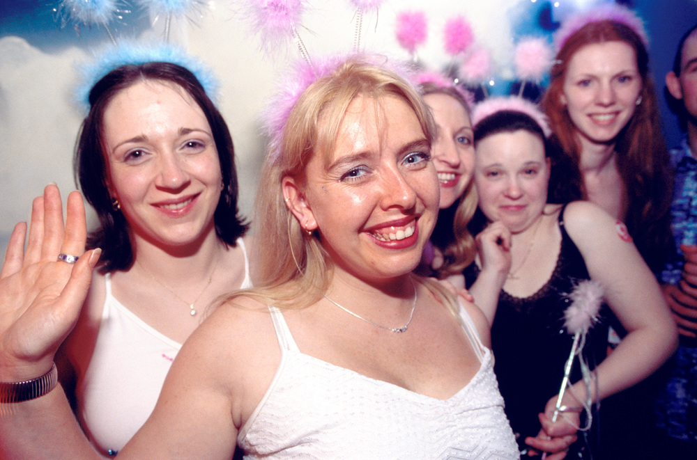Hen party at nightclub, Blackpool, England