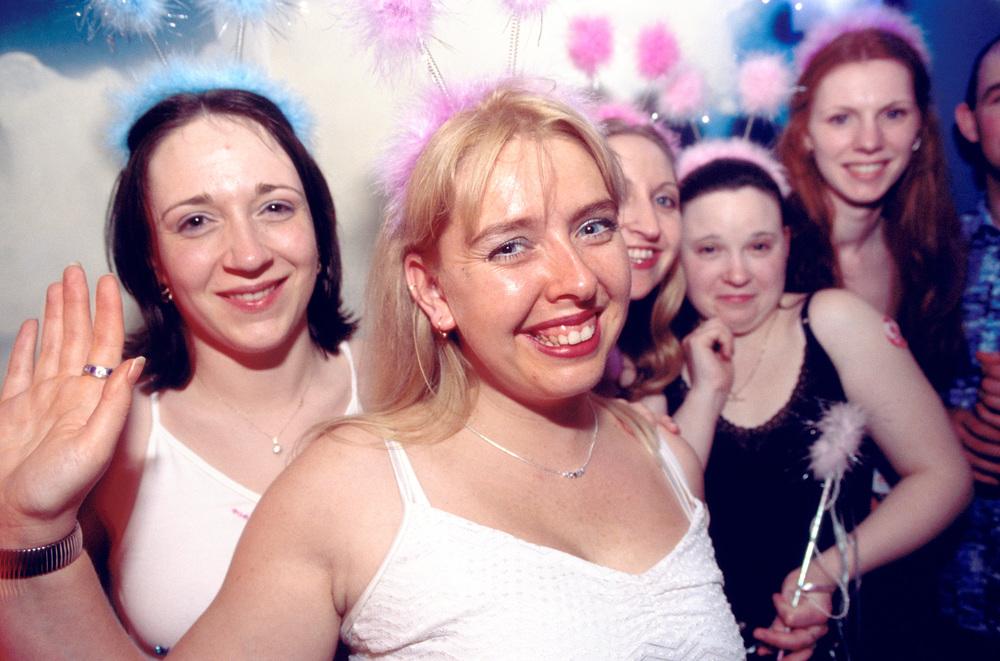 Hen party at nightclub, Blackpool, England