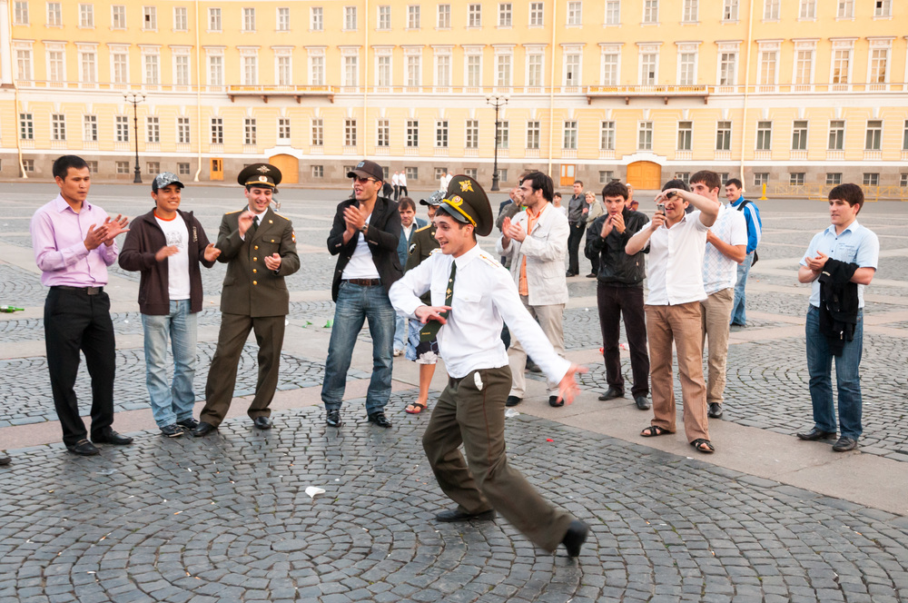 Off duty army officer, St Petersburg