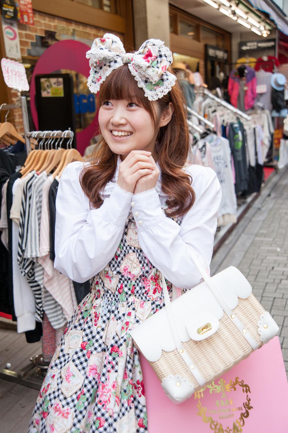 Cosplay teenager, Harajuku district, Tokyo