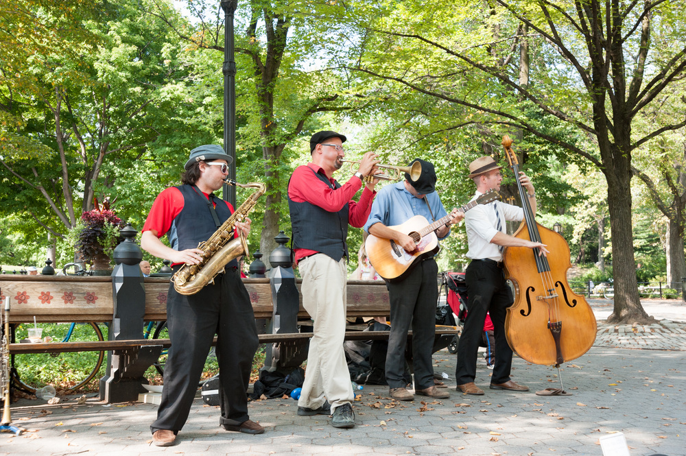 Buskers, Central Park, New York