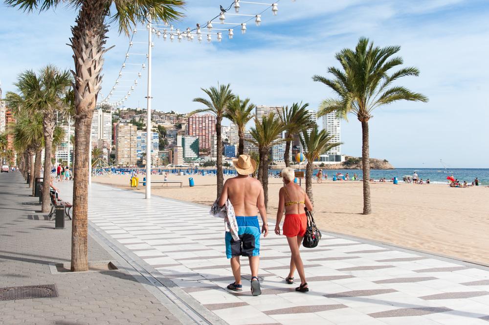 Brits abroad, Benidorm, Spain
