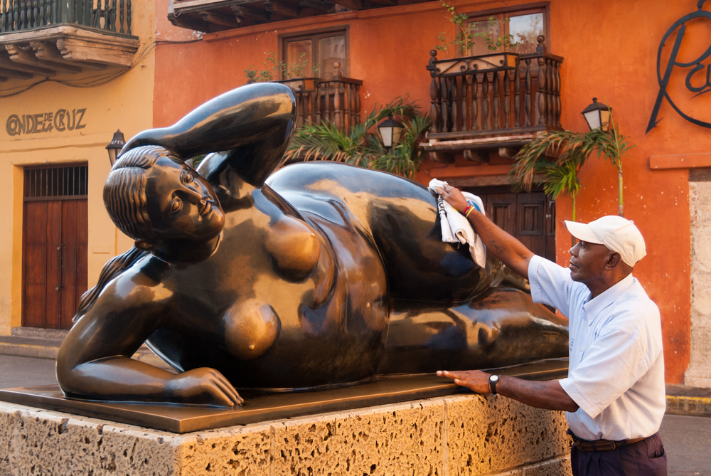 Botero nude, Cartagena, Colombia