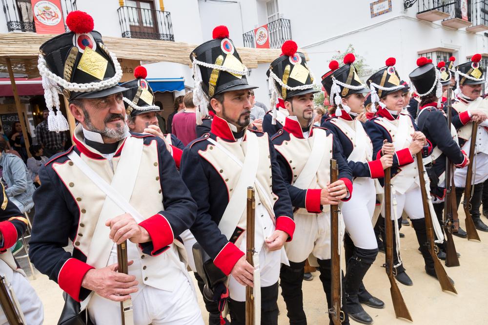 Military re-enactment, Algodonales, Spain