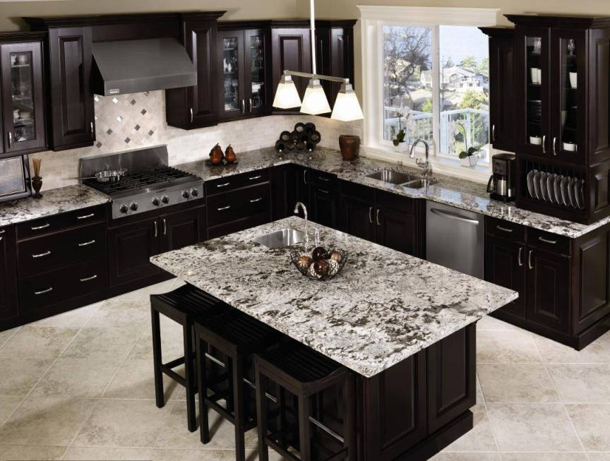 Black Granite Kitchen Countertops black counter tops best 25+ black countertops ideas on pinterest