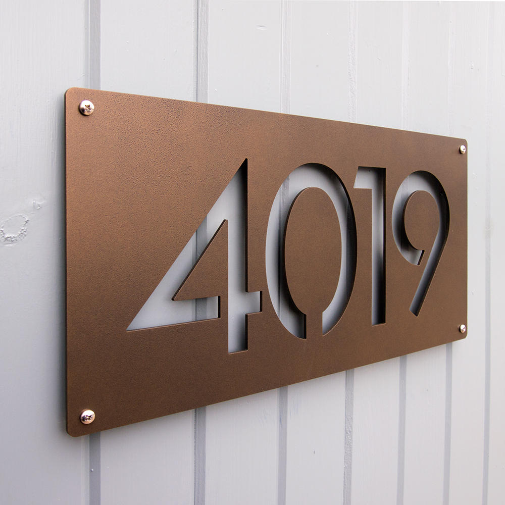 CUSTOM Modernist House Numbers in Powder Coated Aluminum — Moda ...