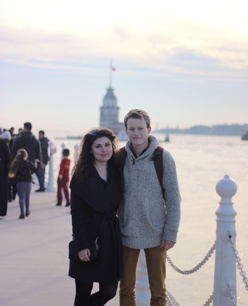 Maiden's Tower in Istanbul. / / Dívčí věž v Istanbulu.