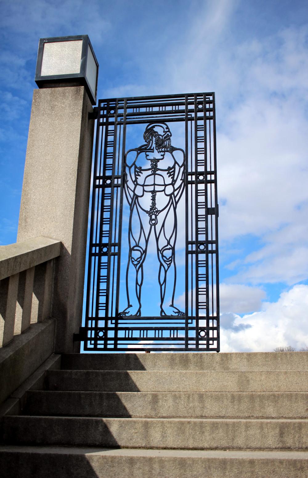 Vigeland Park.  The naked statues park. // Park nahých soch.