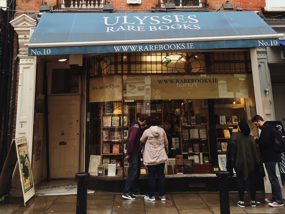 Ulysses Rare Books; a bit dilapidated from the outside, but full of treasures within…