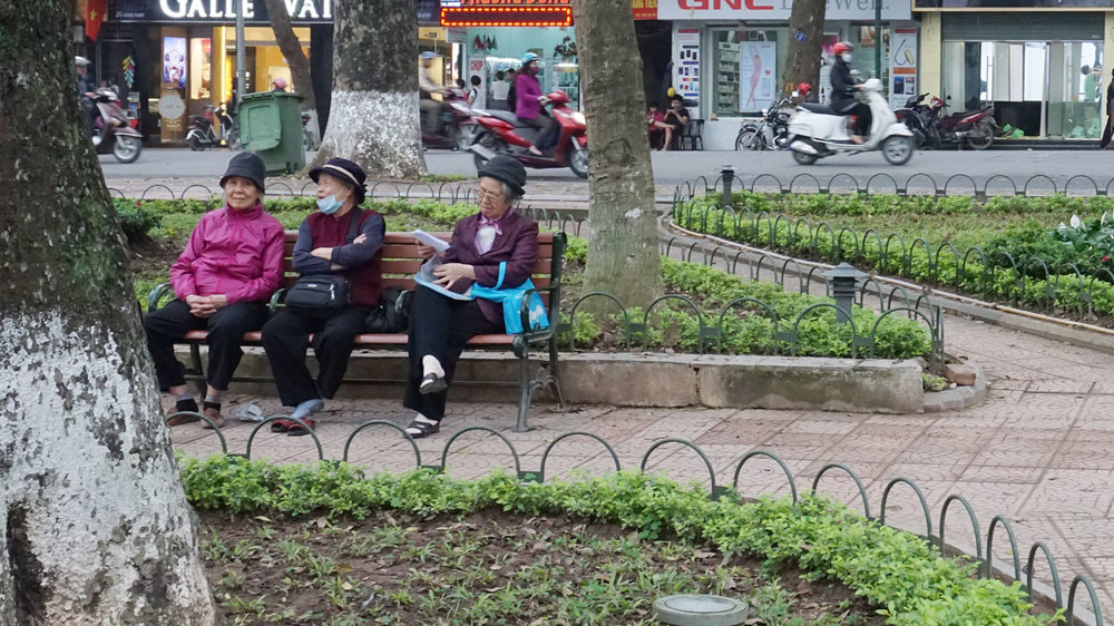 Women relaxing in the park