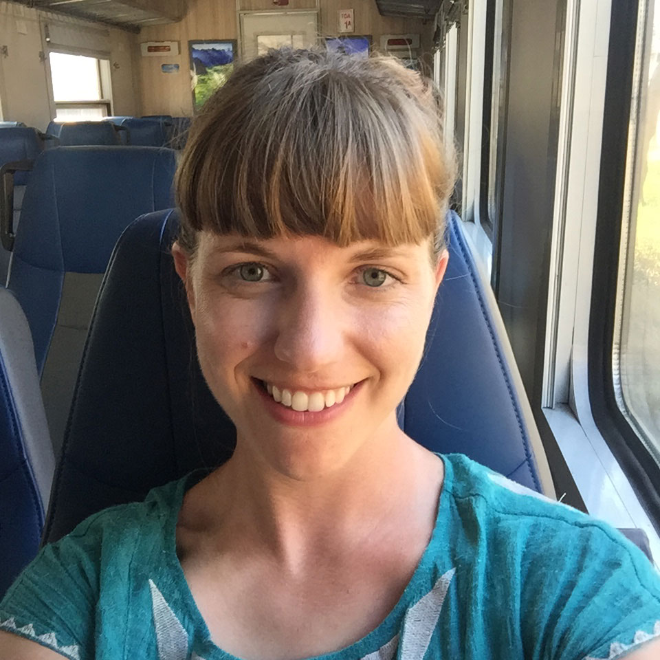 Happy train traveler!