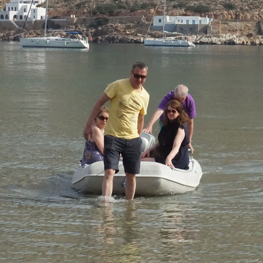 Using the dinghy to go ashore