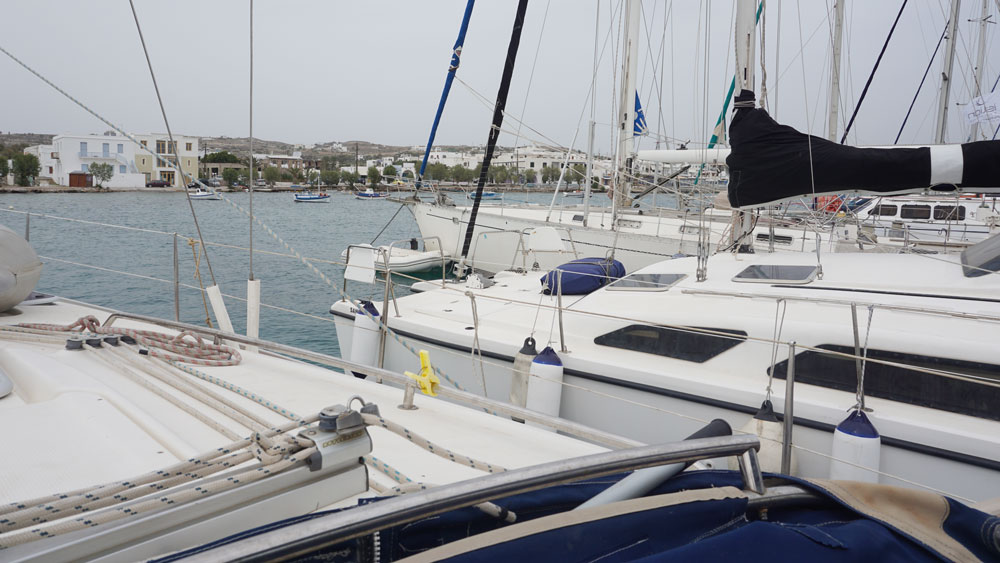 Boats are docked close to each other; for the most part, fellow sailors are respectful and friendly neighbors