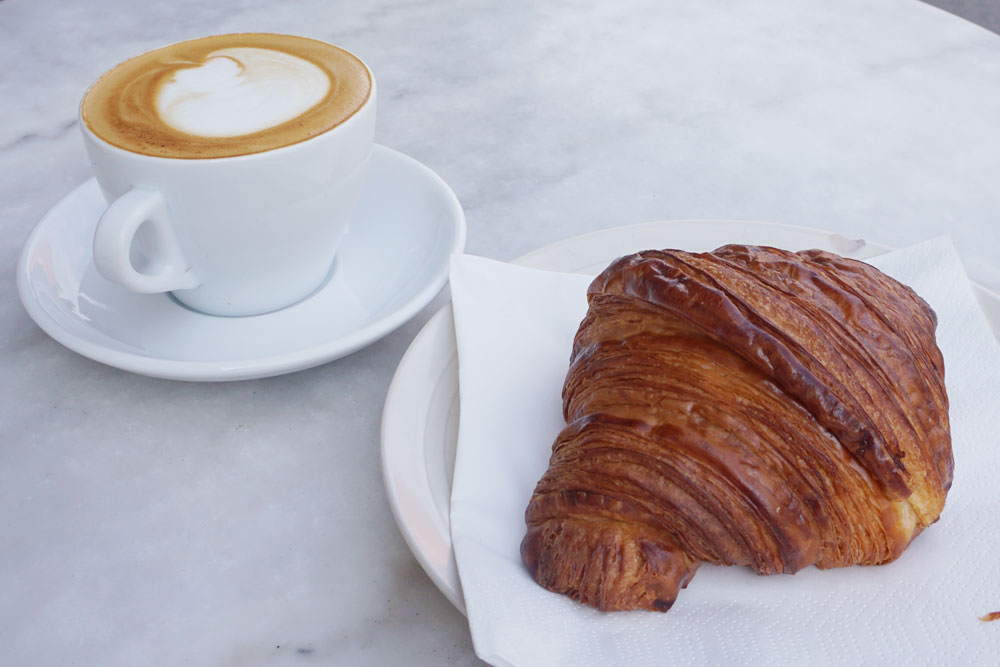 The famous croissant at Mirabelle