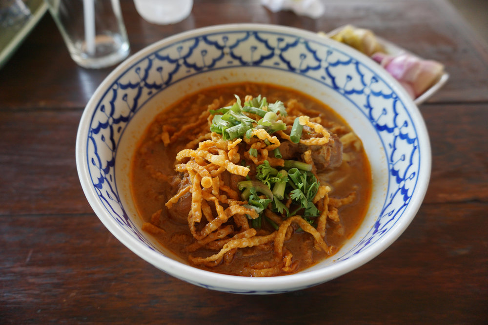The best Khao Soi soup I had in Thailand, Chiang Mai
