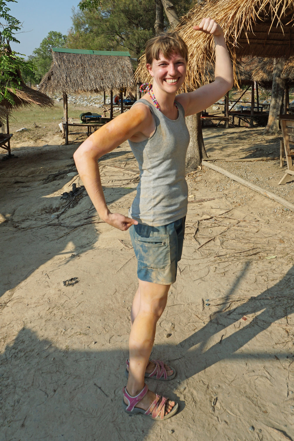 Showing off my dirt stains after mountain biking, Chiang Mai