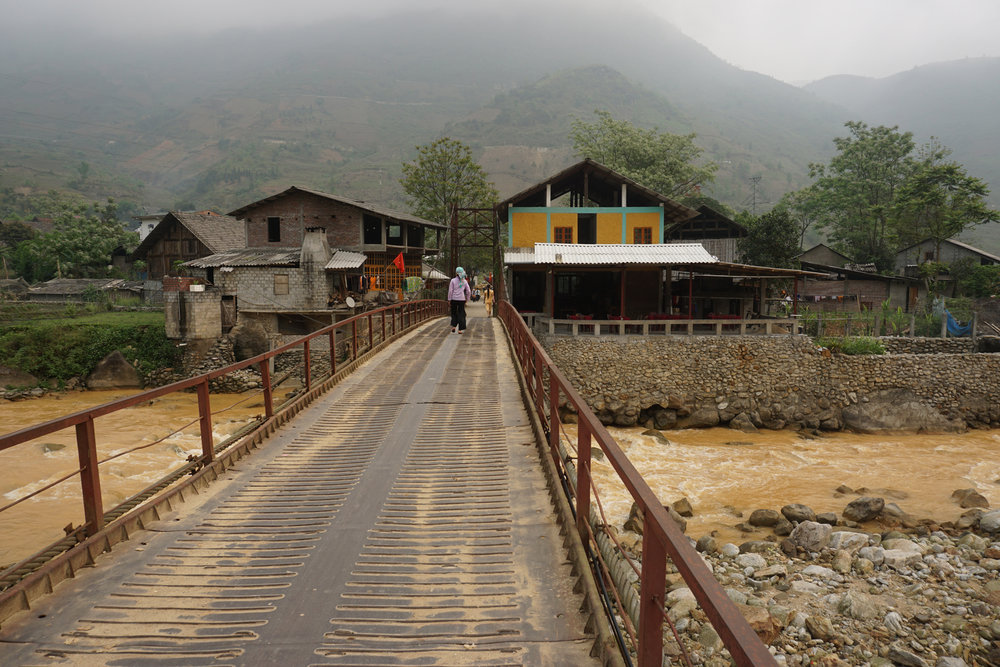 The village we spent night two in, Sapa
