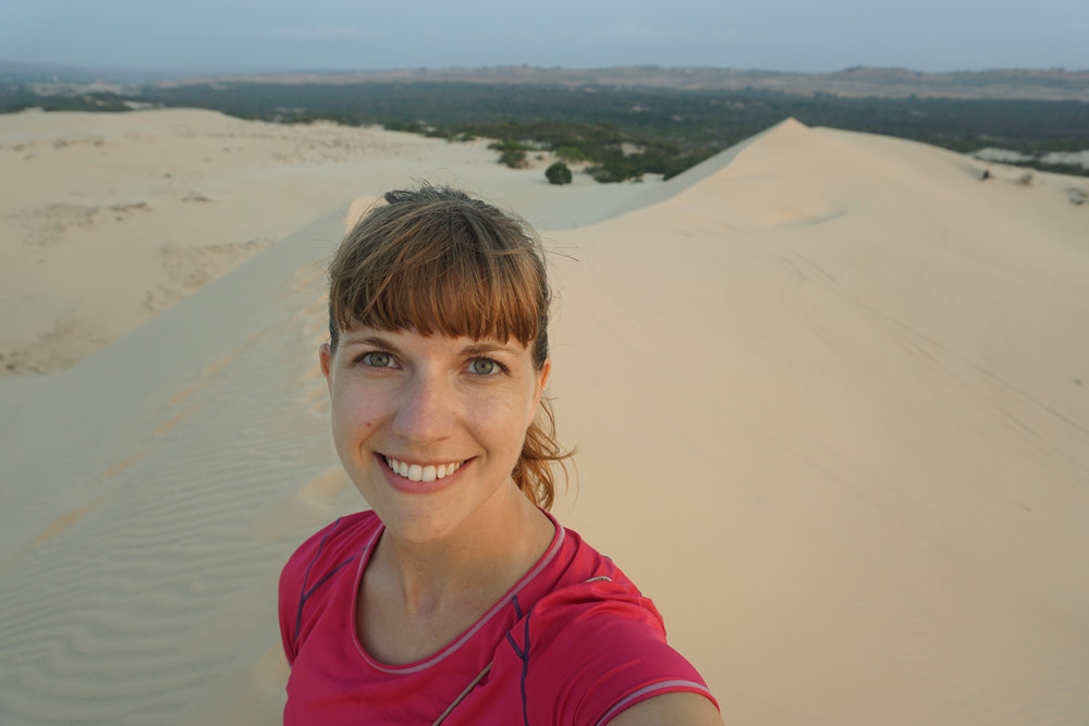 Sunrise at the sand dunes, Mui Ne