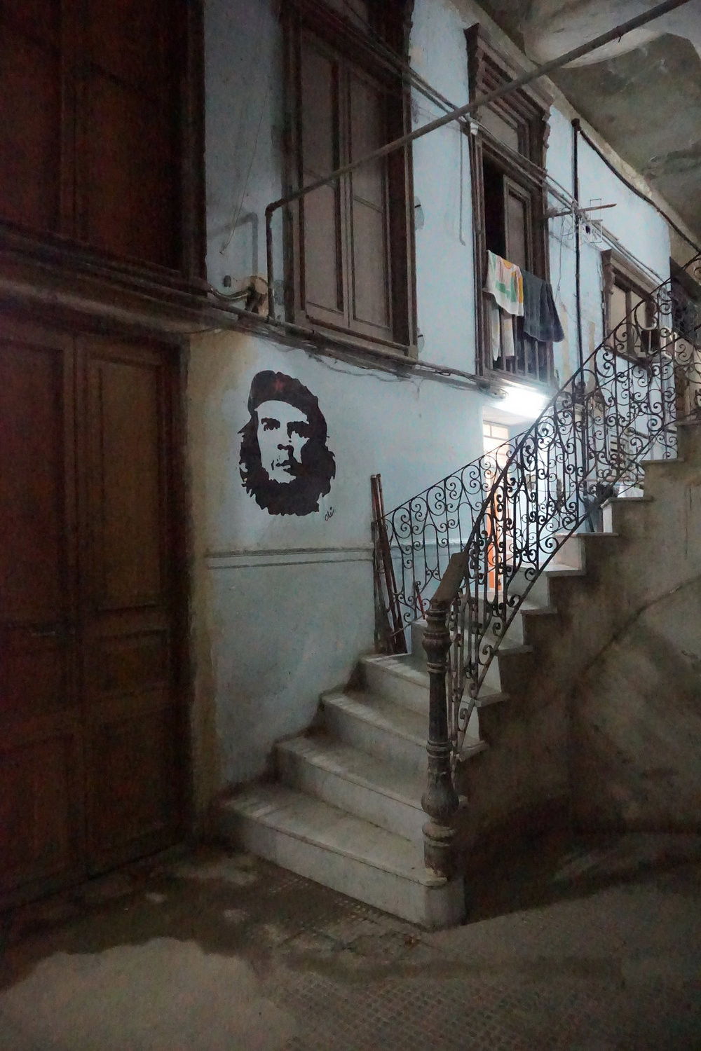 Entryway to a hidden restaurant, Havana