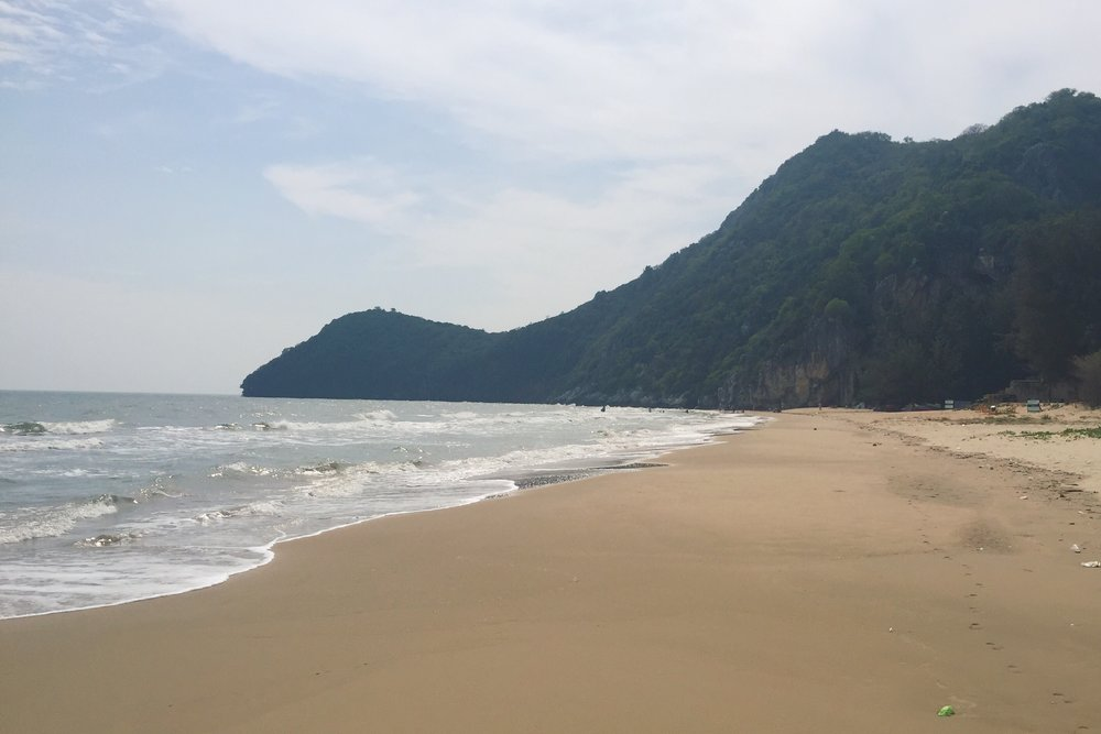 Pranburi beach is decent but not as nice and pristine as the Thai islands