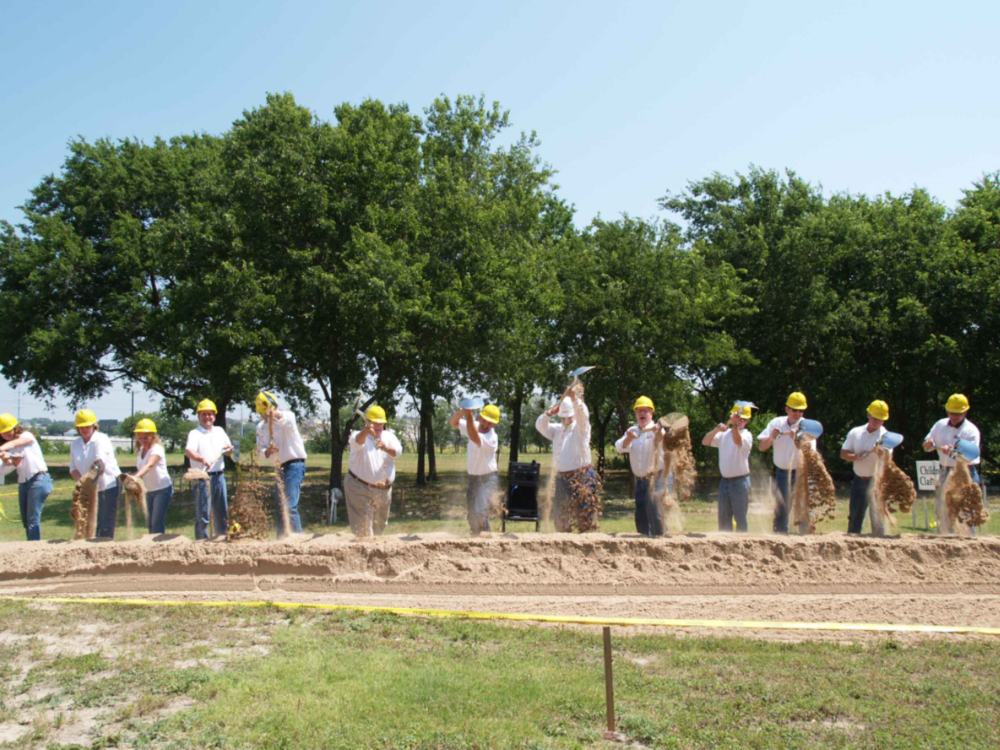 Groundbreaking of our permanent facility in 2006.