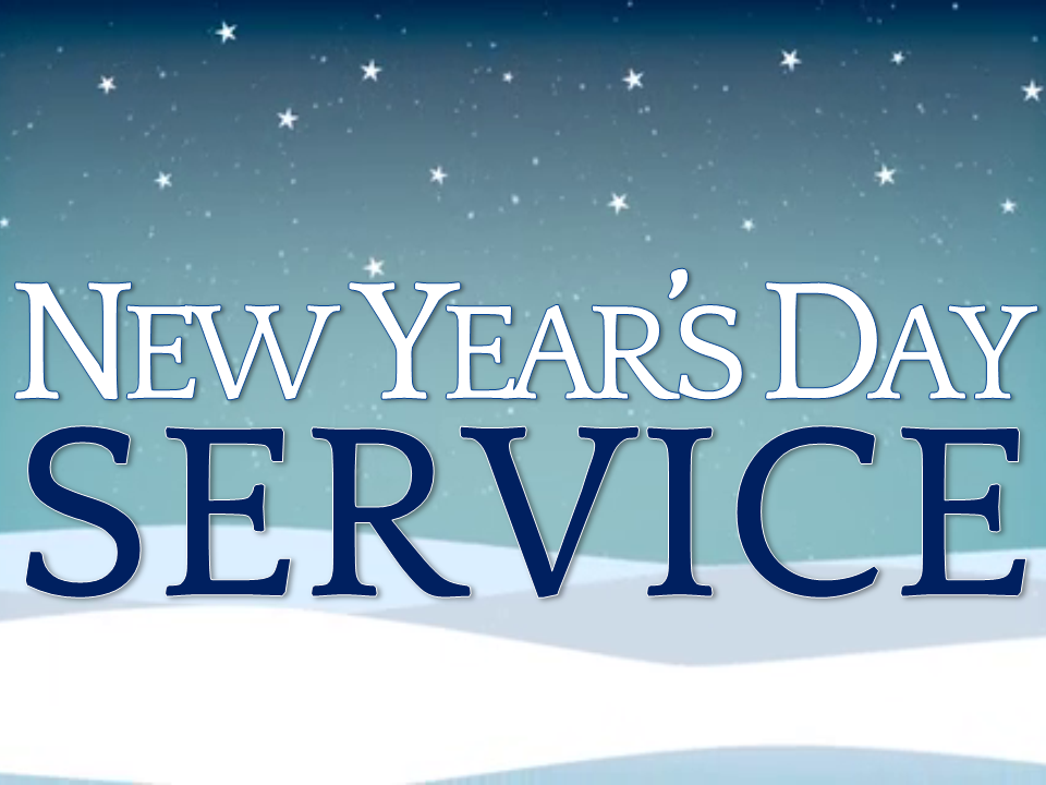 Begin the New Year in Worship! 10:00 a.m.