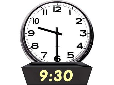 Afbeeldingsresultaat voor klok 9.30