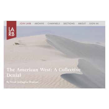 The American West: A Collective Denial  \\  Los Angeles Review of Books