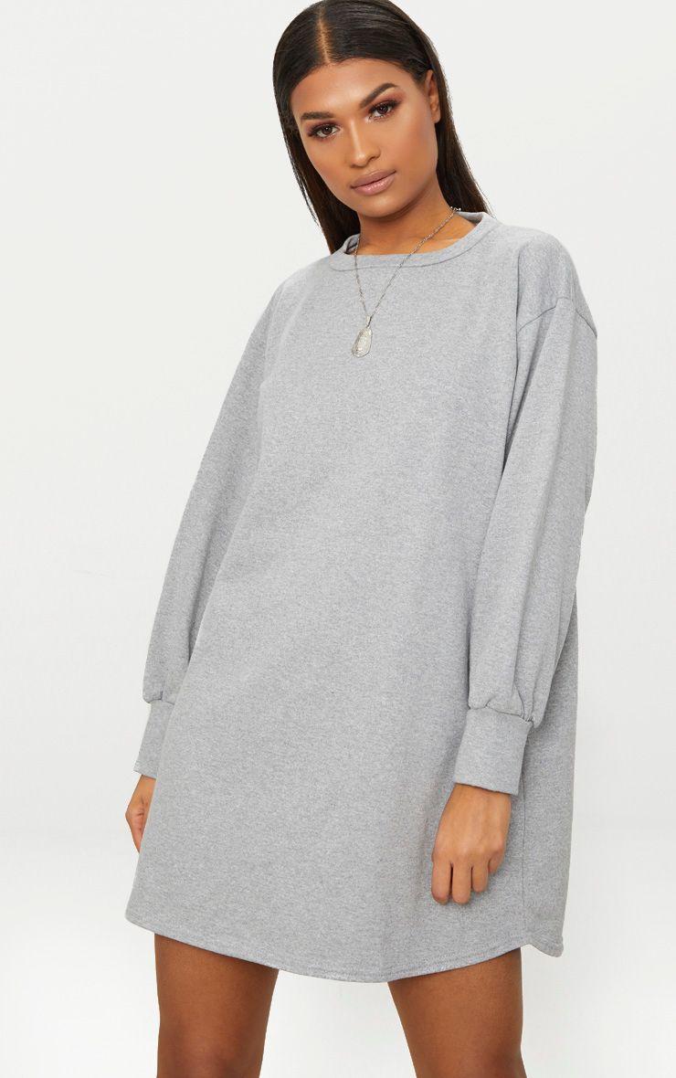 OVERSIZED SWEATER DRESS - www.prettylittlething